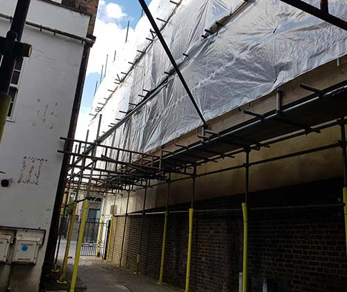 Erected Scaffolding